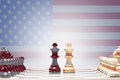 American Chess Game Royalty Free Stock Photo