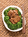 American chinese beef and broccoli Royalty Free Stock Photo