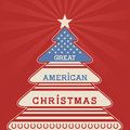American christmas tree poster Royalty Free Stock Photo