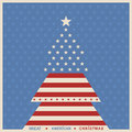 American christmas tree poster background Royalty Free Stock Photo