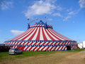 American circus tent exterior Royalty Free Stock Photos