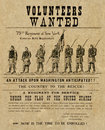 American civil war poster Royalty Free Stock Image