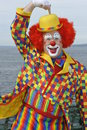 American clown posing in front of my camera at a ferry near seatte usa Stock Photography