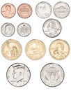 American Coins Money Royalty Free Stock Photo