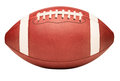 American College High School Junior Football on White Royalty Free Stock Photo