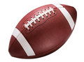 American college high school junior football on white striped isolated background diagonal in frame without shadow Royalty Free Stock Photography