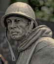 American Combat Soldier, Korean War Veterans Memorial Royalty Free Stock Photo