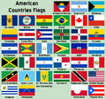 American Countries Flags