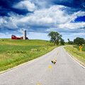 American Country Road Royalty Free Stock Photo