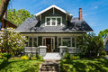 American craftsman house with clapboard construction Royalty Free Stock Photo