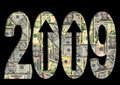 American Dollars 2009 text Stock Photography