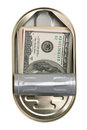 American dollars in a tin can Stock Images