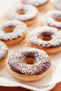 American donuts delicious traditional chocolate dessert Royalty Free Stock Photos