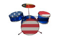 American drum conceptual image of a with flag Royalty Free Stock Images