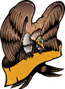 American eagle with banner vector illustration Stock Photography
