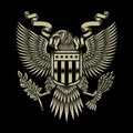 American Eagle Emblem Royalty Free Stock Photo