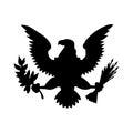 American eagle emblem isolated icon design Royalty Free Stock Photo