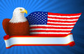 American eagle flag wing bald with wings in the form of a of america eps Royalty Free Stock Photo