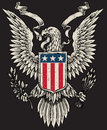 American eagle linework vector image of Royalty Free Stock Images