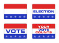 American election button style Royalty Free Stock Images