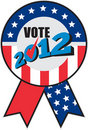 American election USA ribbon tick 2012 Stock Photos