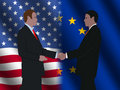 American EU business meeting Stock Images