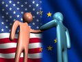 American EU meeting Royalty Free Stock Image