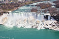 American falls high angle a view of the niagara Royalty Free Stock Photography