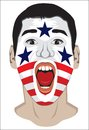 American fan face vector illustration of Stock Image