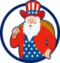 American Father Christmas Santa Claus Royalty Free Stock Photography