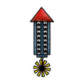 American fireworks isolated icon