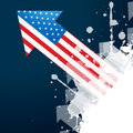 American flag arrow design vector Royalty Free Stock Image
