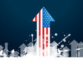 American flag arrow vector design Stock Photography