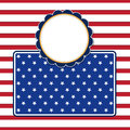 American flag background with stars symbolizing th july indepen independence day illustration in vector format Royalty Free Stock Photos