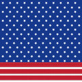 American flag background with stars symbolizing th july independence day illustration in vector format Royalty Free Stock Image