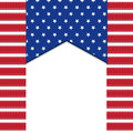 American flag background with stars symbolizing th july independence day illustration in vector format Royalty Free Stock Photos