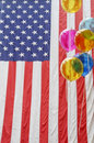 American Flag and Balloons Royalty Free Stock Photo