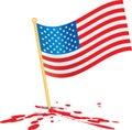 Americký vlajka na krv