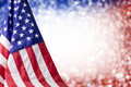American flag and bokeh background Royalty Free Stock Photo
