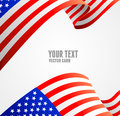 American flag border vector illustration on white Royalty Free Stock Image