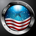 American Flag Button Royalty Free Stock Photography