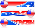 American Flag Button with Banners Stock Images
