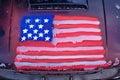 Americký vyrobený vlajka auto