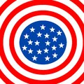 American flag circle Stock Image