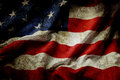 American flag closeup of grunge Royalty Free Stock Photography
