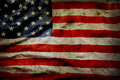 American flag closeup of grunge Royalty Free Stock Images