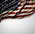 American flag closeup of on plain background Royalty Free Stock Photography