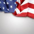 American flag closeup of on plain background Royalty Free Stock Image