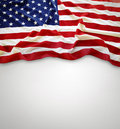 American flag closeup of on plain background Stock Photography