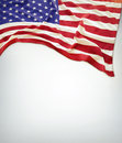 American flag closeup of on plain background Royalty Free Stock Photo